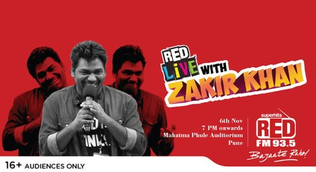RED live with Zakir Khan, Pune