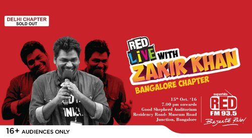 Image for RED live with Zakir Khan, Bangalore 57e2776851dca392078078c1